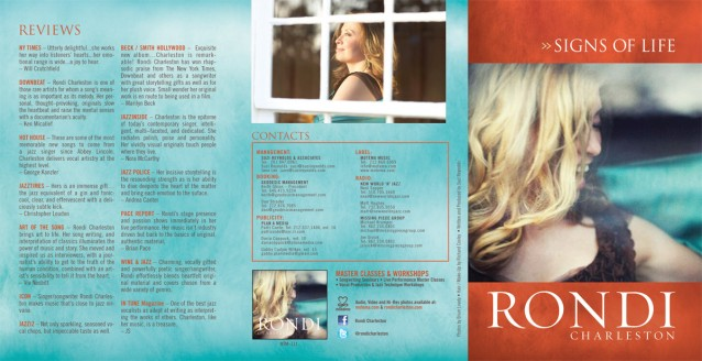 Rondi Charleston - Signs Of Life Brochure